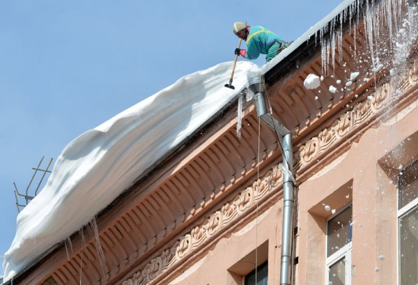 Сколько стоит очистка снега с крыши